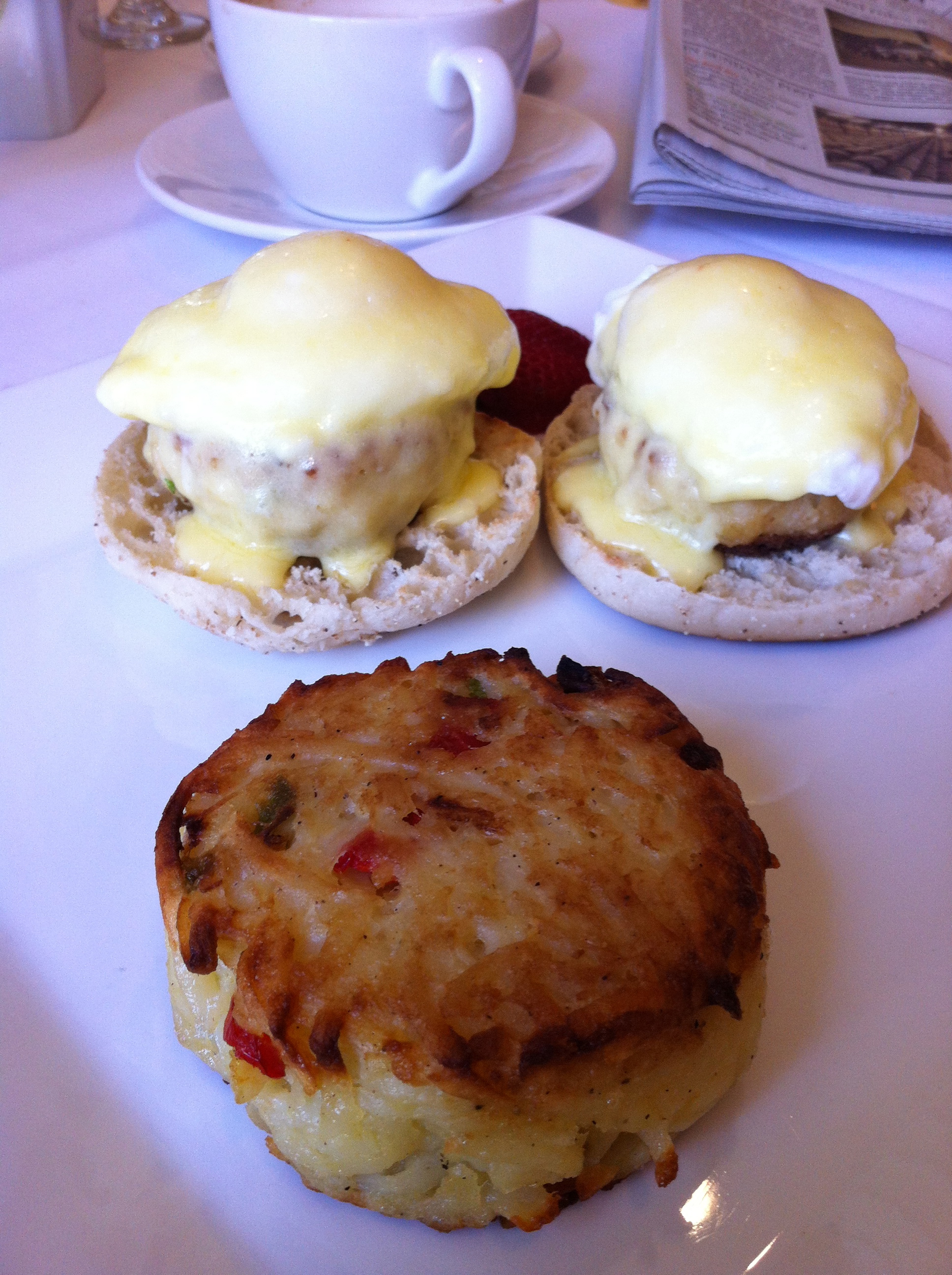 Crab Cake Eggs Benedict San Francisco