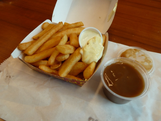 Chips, aioli and gravy from Urban Bean Espresso Bar. A great lunch.