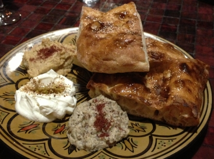 Mecca Bah dips and Turkish Bread