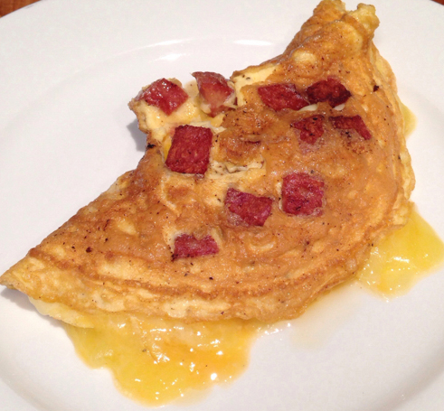 Bacon an cheese omelet