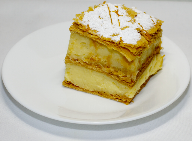 Vanilla slice. So rich. So nice.