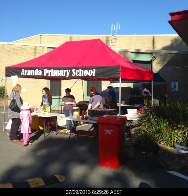 At most election venues, especially at schools there is a sausage sizzle and a cake stall to raise money for the school