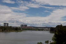The lake and clouds