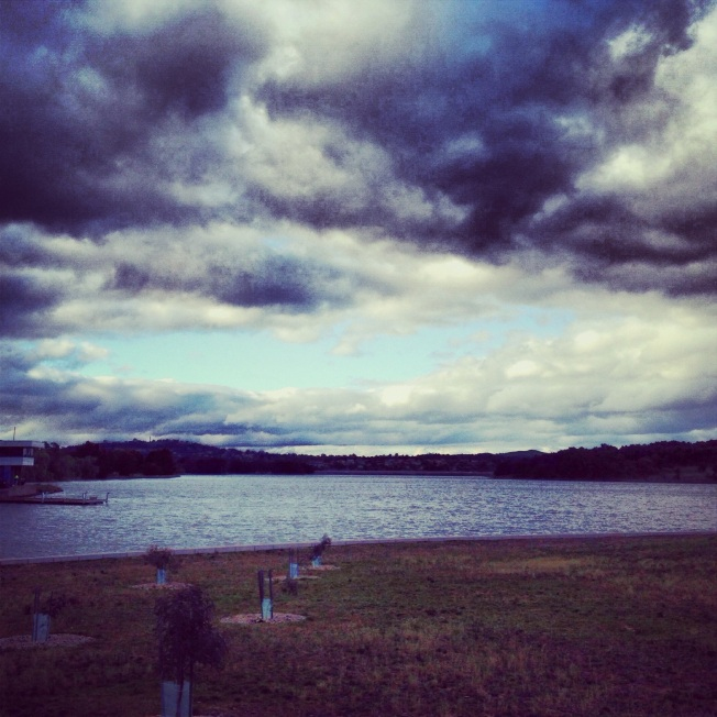 Clouds over Lake Ginninderra