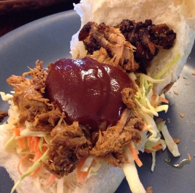My second of three pulled pork sandwiches. I didn't capture an image of the third because I inhaled it :-)