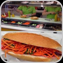 Pork with chilli Bánh Mì from Saigon Fresh