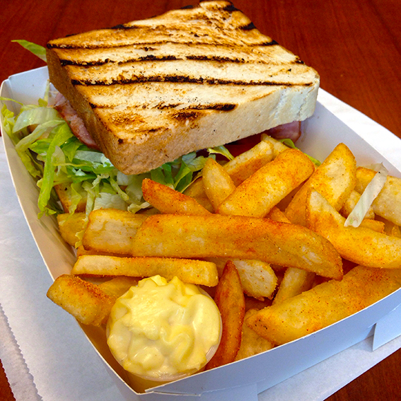 Tuesday 2013-12-17 12.23.59-1 AEDT Lunch BLT with chips. This was really nice. I got it from Urban bean espresso bar.