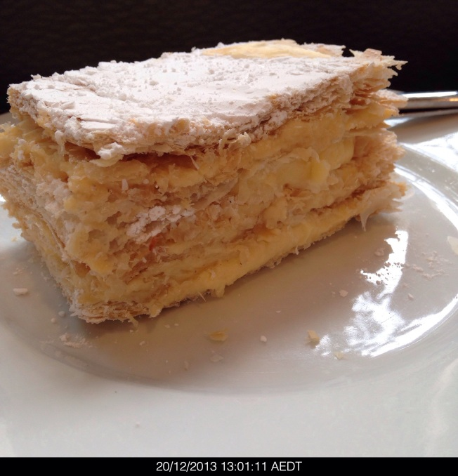 Friday 2013-12-20 13.01.09 AEDT Vanilla slice from Cafe Hoz.