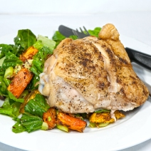 Chicken thigh and salad