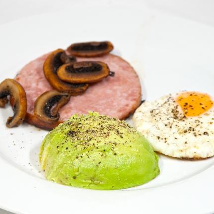Thursday2014-01-16 06.27.29AEDTHam steak breakfast with a focus on avocado