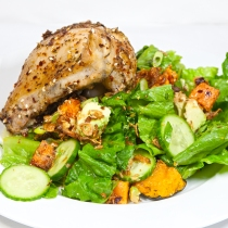 Thursday2014-01-16 19.24.10AEDTChicken thigh and salad