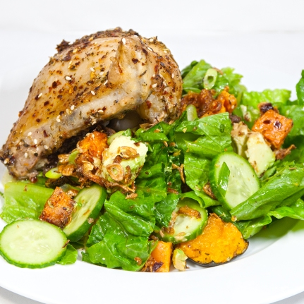 Thursday 2014-01-16 19.24.10 AEDT Chicken thigh and salad