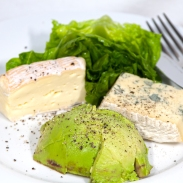 Saturday2014-01-18 13.30.00AEDTSmelly cheese and avocado with cos lettuce for lunch