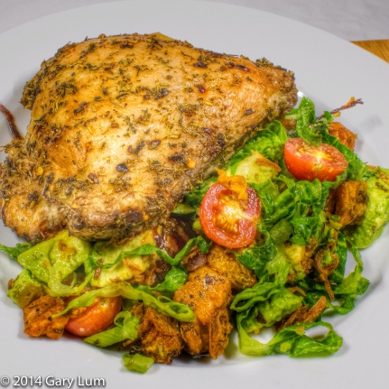 Tuesday2014-01-21 18.05.36-1AEDTChicken thigh and salad