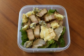 Wednesday2014-01-22 12.03.15AEDT Lunch box with meat, cheese and lettuce
