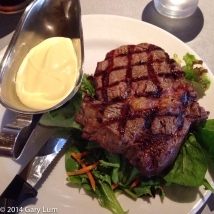 Friday 2014-01-24 18.28.03-2 AEDT Scotch fillet steak with Hollandaise sauce and salad