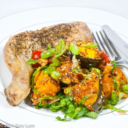 Saturday 2014-01-25 18.40.54-1-2 AEDT Dinner was a roasted chicken Maryland with salad