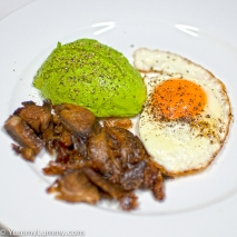 Thursday 2014-01-30 05.43.30-1-1 AEDT Fried egg with avocado and lamb for breakfast