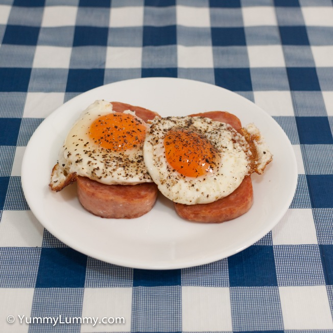 Monday 2014-03-03_05.56.45 AEDT Spam from the shelf of shame and fried eggs.