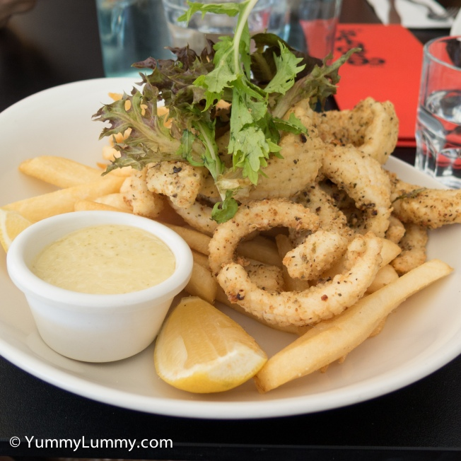 Salt and Pepper Calamari at Groove Train. A delightful lunch with Miss18, Miss16 and Miss13. The calamari was tender, soft and delicious.