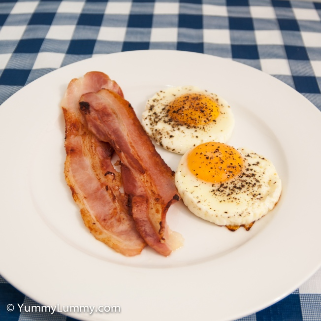 Bacon and eggs. Simple and satisfying.