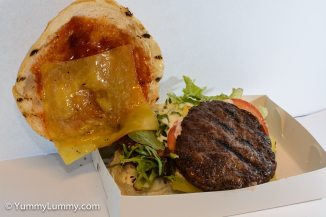 A cheese burger from Urban Bean Espresso Bar which I ate nude (sans bread) to keep it low carb.