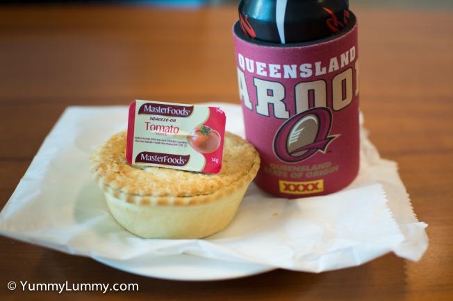 Meat pie for lunch. #FootyFood for tonight #origin #QUEENSLANDER