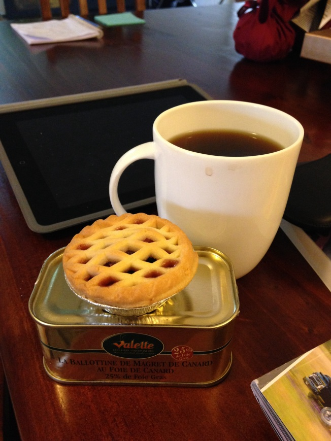 Tuesday 2013-12-25 09.27.14 AEDT Second breakfast was a mince pie