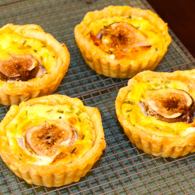 Tuesday 2013-12-25 11.31.17 AEDT Fig and goat cheese tart. I wanted all four.