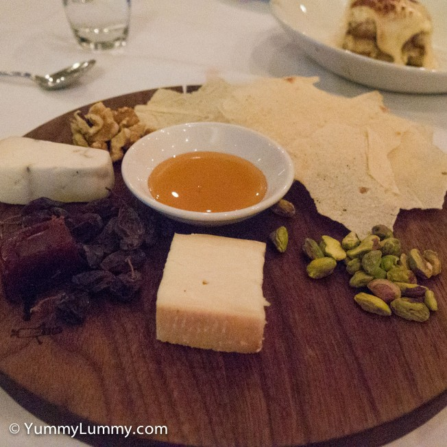 A picture of the cheese platter
