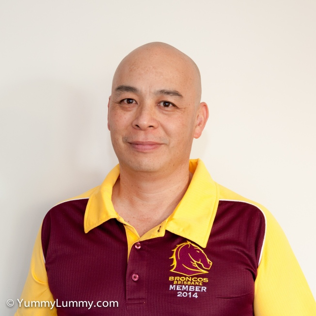 Me in my Brisbane Broncos member shirt for 2014. Tonight the Broncos are playing against the Roosters in round 3 of the 2014 NRL season. I hope the Brisbane Broncos defeat last year's premiers, the Sydney Roosters.