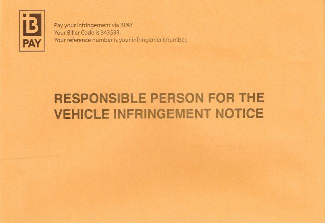 2014-03-7 Parking Infringement envelope