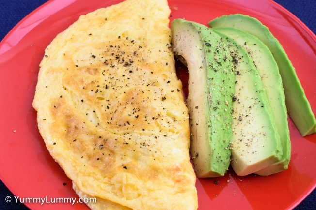 Cheese omelet and avocado for #breakfast