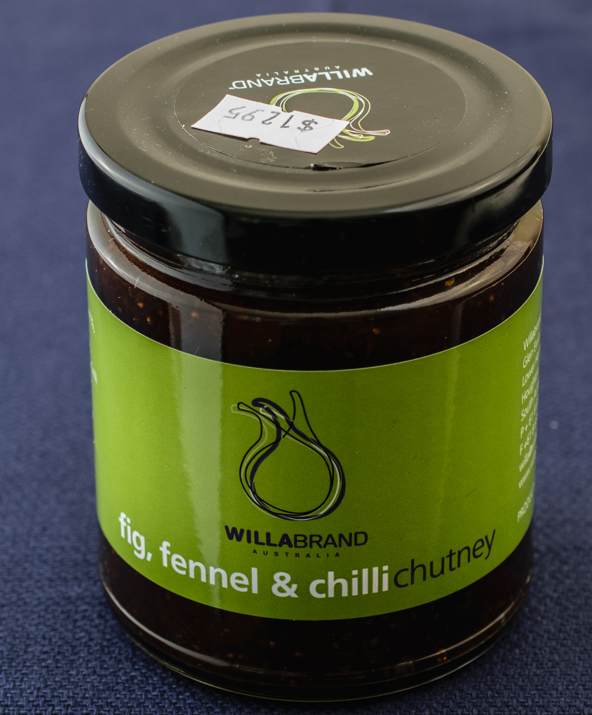 fig, fennel and chilli chutney
