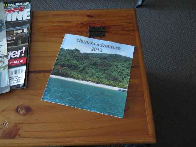 Bron made a photograph book of our holiday last year in Vietnam. It's fantastic.